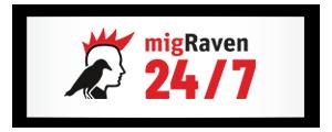 migRaven.24/7 Logo